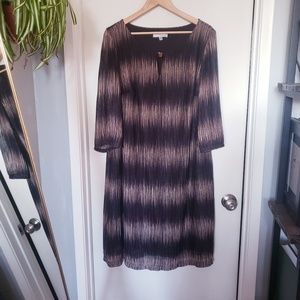 Studio One Women's Size 20W Brown Black Dress